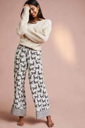 Anthropologie Equestrian Sleep Pants Neutral Motif