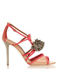 Malone Souliers Ruth Tassel Leather Sandals Pink Multi