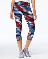 Tommy Hilfiger Striped Cropped Active Leggings Navy Combo