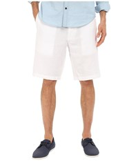 Perry Ellis Linen Washed Drawstring Shorts Bright White Men's Shorts