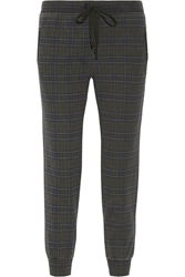 Current Elliott The Vintage Plaid Cotton Jersey Track Pants