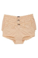 Cosabella Plus Size Women's 'Cheekie' Lace Trim Briefs Blush Blush Blush