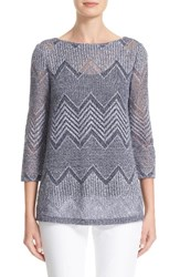 Lafayette 148 New York Women's Knit Chevron Top