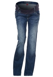 Esprit Maternity Straight Leg Jeans Stonewash Blue Denim