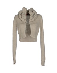 Sinequanone Knitwear Wrap Cardigans Women Light Grey