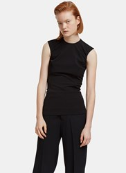 Rick Owens Dovima Sleeveless Crepe Top Black
