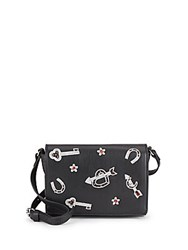 French Connection Hazel Key Charm Crossbody Bag Black