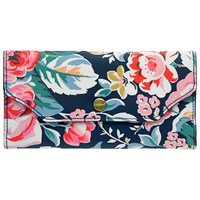 Cath Kidston Folded Button Zip Wallet Navy