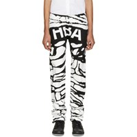 Hood By Air Black And White Peel Regular 2 Jeans
