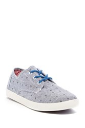 Toms Paseo Chambray Flower Sneaker Blue