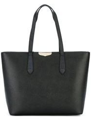 Twin Set Logo Plaque Tote Black