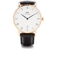 Daniel Wellington Women's Dapper Sheffield Rose Gold Watch Black