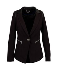 Morgan Fitted Dual Material Jacket Black