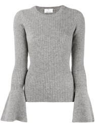 Allude Wide Sleeve Jumper Grey