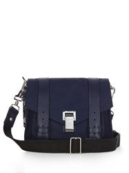 Proenza Schouler Ps1 Leather Trimmed Nylon Cross Body Bag Blue
