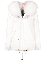 Mr And Mrs Italy Fur Collar Jacket White