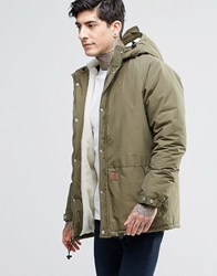 Fat Moose Trotter Mid Parka Borg Lined Army Green