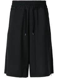 Odeur High Waisted Track Shorts Black
