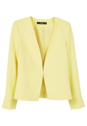 Mango Essential Structured Blazer Yellow