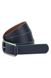 Men's Original Penguin 'Grady' Leather Belt Dress Blues