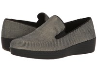 Fitflop Houndstooth Print Superskate Black Women's Shoes