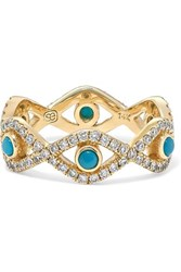 Sydney Evan Evil Eye 14 Karat Gold