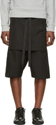 Denis Gagnon Black Poly Oversized Bermuda Shorts
