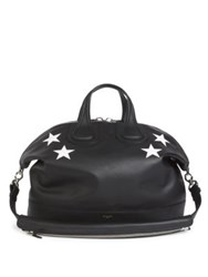 Givenchy Nightingale Calf Leather Satchel Black