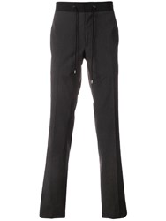 Lanvin Drawstring Slim Fit Trousers Grey