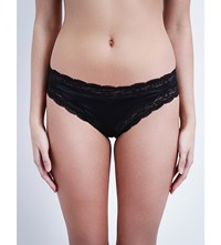 Stella Mccartney Clara Whispering Silk Satin Bikini Briefs Dark Ink