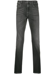 7 For All Mankind Ronnie Washed Skinny Jeans Black