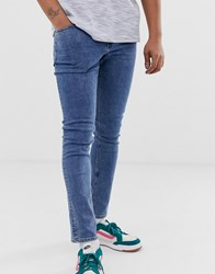 Cheap Monday Tight Skinny Jeans In Norm Core Blue