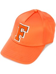 Fenty X Puma Monday Baseball Cap Spandex Elastane Polyester Yellow Orange