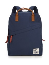 Mt. Rainier Design Top Handle Nylon Backpack Navy