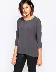Vero Moda 3 4 Sleeve Tunic Top Grey