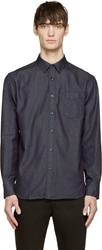 Rag And Bone Dark Indigo Denim Button Up Field Shirt