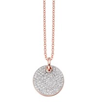 Monica Vinader Ava Diamond Disc Pendant Female Pink