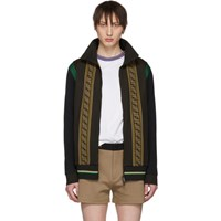 Brown Knit 'Forever Fendi' Track Jacket