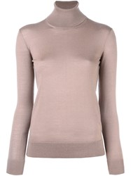 Ralph Lauren Purple Turtleneck Jumper Nude And Neutrals