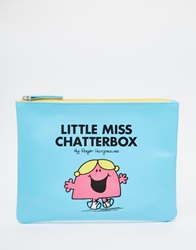 Little Miss Chatterbox Pouch Blue