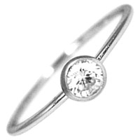 Hysteric Co. Single Bezel Ring Silver