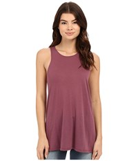 Rvca Label High Neck Tunic Tank Top Muddy Plum Women's Sleeveless Brown