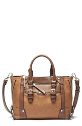 Sole Society Mini Susan Faux Leather Tote Brown Cognac