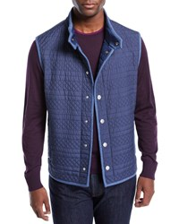 Stefano Ricci Lightweight Quilted Vest Blue