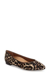 Vionic Women's 'Caballo' Pointy Toe Flat Tan Leopard Calf Hair