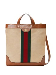 Gucci Large Vintage Canvas Tote Brown