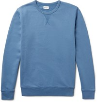 Hartford Loopback Cotton Jersey Sweatshirt Blue