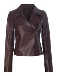 Label Lab Leather Jacket Wine