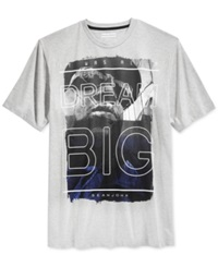 Sean John Dream Big T Shirt Grey Mix Heather