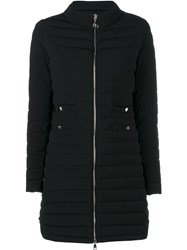 Moncler Long Quilted Jacket Black